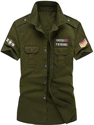 IYFBXl Camisa Militar para Hombre - Color sólido, Verde Militar, XL: Amazon.es: Deportes y aire libre