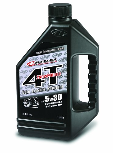 Maxima 15901 Snowmobile 4T 5W30 Engine Oil - 1 Liter Bottle by Maxima