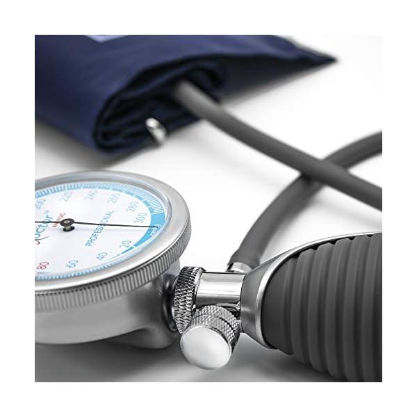 AIESI® Esfigmomanometro Manual Profesional Aneroide Tensiómetro palmar con brazalete de nylon para adultos DOCTOR… 12