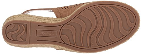 Linen Women's Sandal Wedge Street Stacy Print Easy Tan PpU6qn