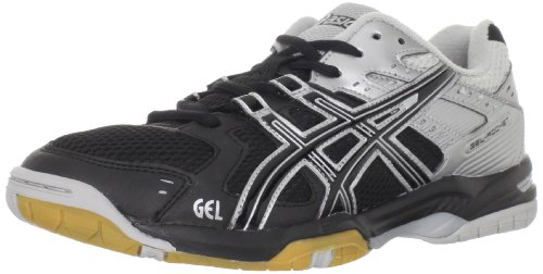 ASICS Women's GEL-Rocket 6 Volleyball Shoe,Black/Silver,12 M US