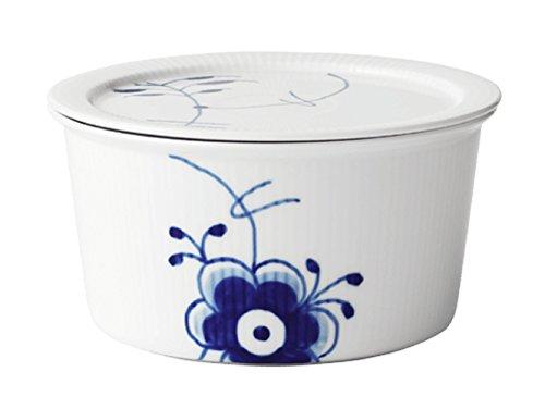 (Royal Copenhagen Blue Fluted Mega Bowl with Lid, 1 qt)