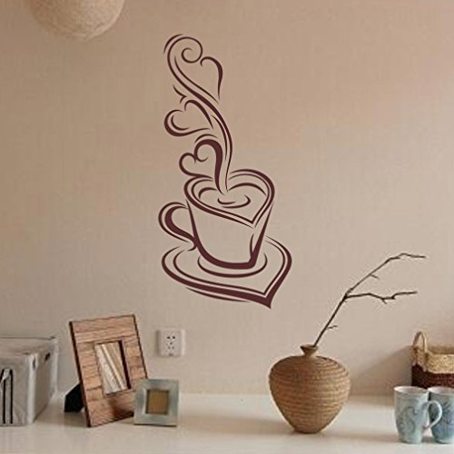 Usstore 1PC Coffee Fairy stickers Home Decor Removable Wall Stickers Art Decor For Walls Ceramics Glass Window Living Home kid Room - Ceramic Decor Light Switchplate Home
