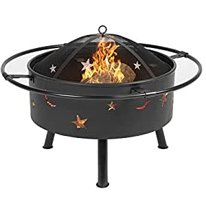 "NYC STORES 30"" Fire Pit BBQ Grill FireBowl Patio Fireplace Firepit"