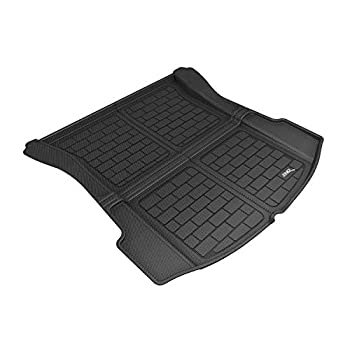 Image of Cargo Liners 3D MAXpider M1TL0041309 Custom Fit All-Weather Kagu Series Cargo Liner Black Rear Tesla 3 Models
