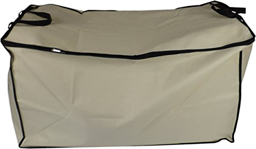 Neusu Extra Large Bedding Storage Bag for Comforters, Strong Handles, Beige 200 Litre XL, 35.8 x 18.5 x 18.5