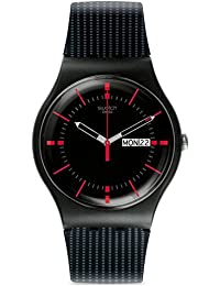 Unisex SUOB714 Originals Black Watch with Patterned Band · Swatch