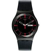 Swatch Unisex SUOB714 Originals Black Watch with Patterned Band