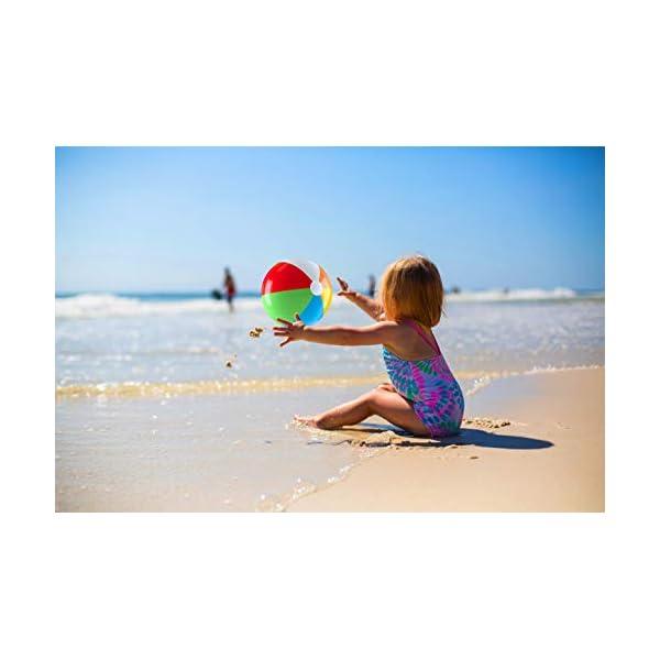Top Race Palloni da Spiaggia gonfiabili Jumbo da 24 Pollici per Piscina, Spiaggia, Feste estive e Regali   Pallone da… 3 spesavip