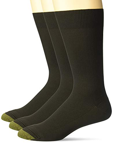 Gold Toe Men's Metropolitan Dress Sock (Pack of Three Pairs), Brown, 10-13
