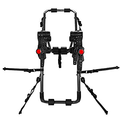 Hollywood Racks - 3-Bike Over-The-Top Trunk Mounted Rack, Trunk Bike Rack for Cars with Spoilers : Sports Outdoors : Sports & Outdoors