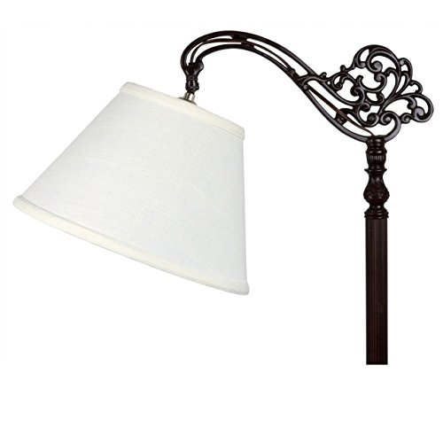 Linen Bridge - Upgradelights White Linen Empire Lamp Shade with Uno Fitter 6x12x8