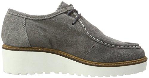 Grey Cordones de Derby Keil Bianco Mujer Mokassin 15 Gris Zapatos para UzAZA4wq