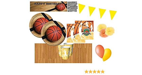 Decoraciones de Fiesta de Baloncesto Kit 46f: Amazon.es: Juguetes ...