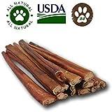 "12"" Premium Bully Sticks (24 Pack) - Odor Free Natural Dog Treats"