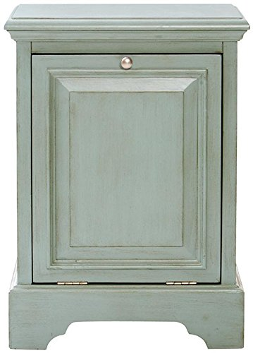 "Sadie Bathroom Hamper, 28""Hx20""Wx17""D, ANTIQUE LIGHT CYAN"