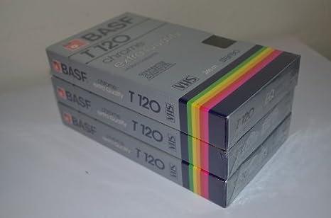 BASF T-120 cromo extra calidad Video casete vhs 6 horas: Amazon.es: Electrónica