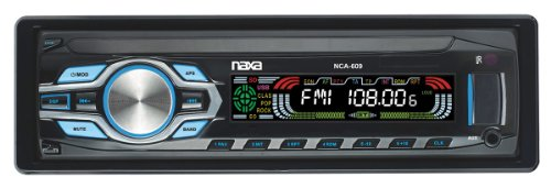 NAXA Electronics NCA-609 In-Dash MP3 Player and Receiver wit