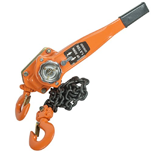 Tinsay Manual Lever Chain Hoist Chain Lever Block Hoist Come Along Ratchet Lift 1.5 Ton 3000lb Capacity-Shipping from USA,3-5 Days Delivery