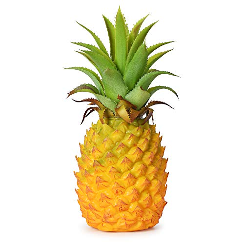 - Lvydec Artificial Pineapple, Realistic Artificial Fruit Fake Pineapple for Home Cabinet Table Party Decoration (8.2