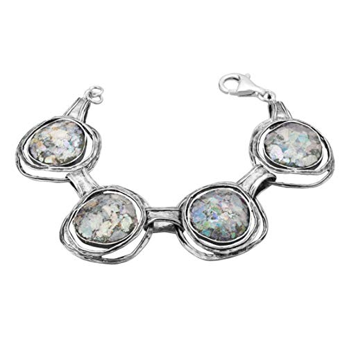 Paz Creations .925 ♥ Sterling Silver Roman Glass Bracelet (6.25) ()
