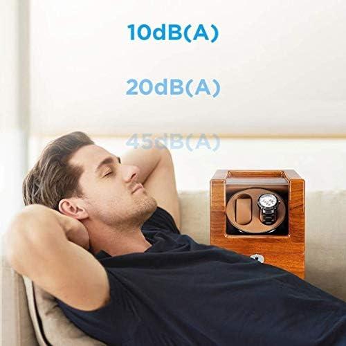 ワインディングマシーン 自動ウォッチワインダーボックス2時計収納ディスプレイボックス4回転モード2電源方式 KANULAN (Color : B)