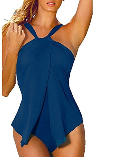 Senza Bikini Tankini Bathingsuit Schienale Donna Sexy Piscina Pezzo Mare Trikini Swimsuit Da Halter Moda Bagno Interi Beachwear Costumi Un Brasiliana Spa Per Monokini z7qCHg