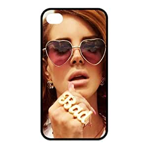 FashionFollower Custom Hot Female Singer Lana Del Rey Iphone4 4S Back Cover TPU Protective Case IP4WN70310