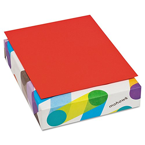 Mohawk BriteHue Multipurpose Colored Paper, 20 lb., 8-1/2 x 11 Inches, Red, 500 Sheets/Ream (MOW471608)