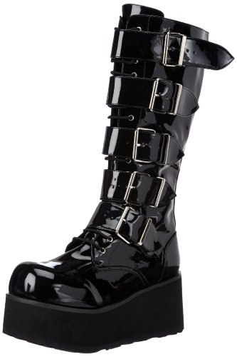 [Demonia by Pleaser Men's Trashville-518 Goth Boot,Black Patent,13 M US] (Halloween Costumes Platform Shoes)