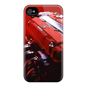 Scratch Resistant Hard Cell-phone Cases For Iphone 4/4s (Rxg6306RVsq) Custom Realistic Honda Vtec Skin
