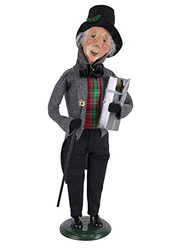 Byers' Choice Happy Scrooge Caroler Figurine from A Christmas Carol Collection #2125 (New 2019) (Christmas Carol Byers Choice)