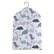 Bedtime Originals Roar Dinosaur Diaper Stacker, Blue/Gray/White