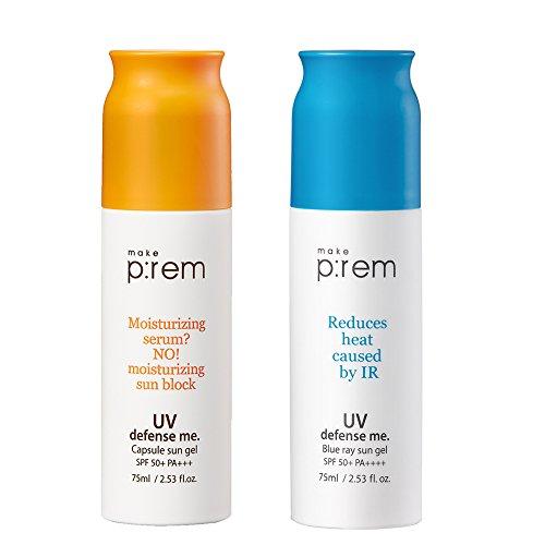 MAKE P:REM UV defense me. < Blue ray Sun gel + Capsule Sun gel = 2EA > / Made in - Prices Capsule Sun