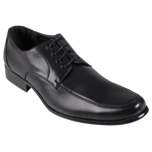 Daxx Mens Topstitched PU Leather Oxfords