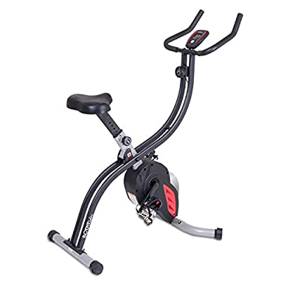 Body Rider XRG5300 Pro X Bike Folding Upright Exercise Bike with EXCLUSIVE Indoor Cycle Flywheel Resistance System / For cardio home gym full body workout