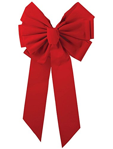 Red Velvet Dix Bow 11lp by Holiday Trims