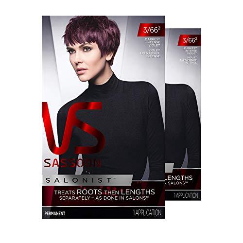 Vidal Sassoon Salonist Hair Colour Permanent Color Kit, 3/66 2 Darkest Intense Violet, 2 Count