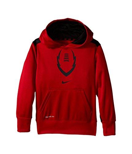 Nike Boys' KO 3.0 Ignite Football Training Hoodie, Gym Red/Black, Small (Nike Football Sweatshirt)