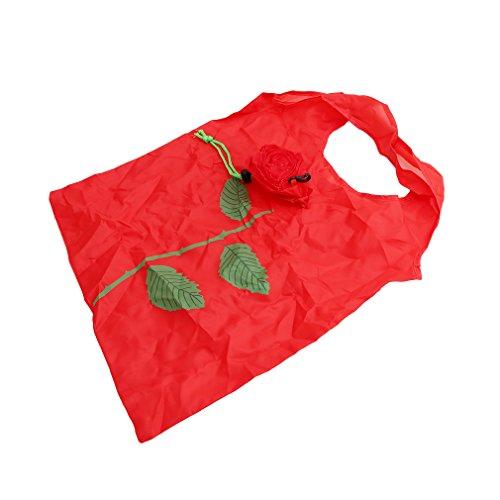 Sacs 5pcs Rose à Rouge Sac Main Sac Sac Réutilisable Hengsong Achats Shopping Pliable FIUxqUd