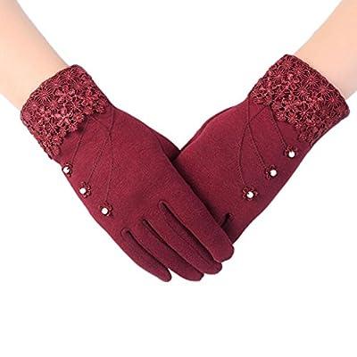 Gloves, Annasvip Women Fashion Touch Screen Winter Outdoor Sport Warm Gloves