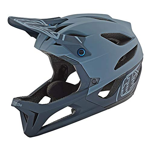 Troy Lee Designs Stage Stealth Full Face Mountain Bike Adult Helmet with MIPS and TLD Shield Logo (XLarge/2XLarge, Matte Gray)