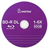 Smart Buy 10 Pack Bd-r Dl 50gb 6X Blu-ray Double