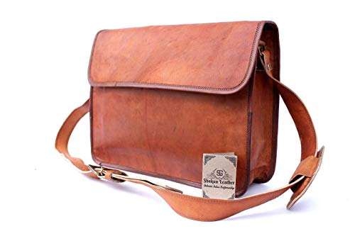 - Handmade Unisex Classic Half Flap Laptop MacBook Business Bag Messenger Satchel Cross Body Travel Bag, 11x15 NEW, 100% Pure Leather with Free Shipping. NEW YEAR- 2019 Mega Clearance Sale- Last 2 DAYS