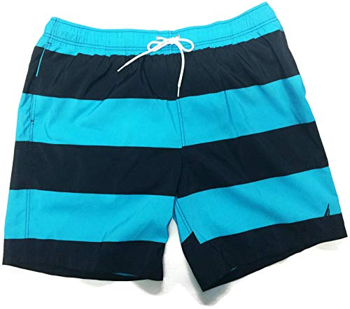 - Nautica Striped Quick-Dry Board Shorts Bathing Suit (Calypso Blue, XX-Large)