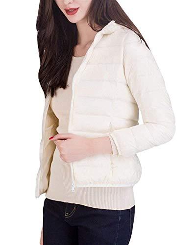 Leisure Elegant Short Zipper Coat Solid Warm Coat White Padding Vintage Quilted Cozy Women's Down Jacket Winter Sleeve Autumn Jacket Coat Long Color Screenes 4IYtwq