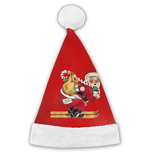 Bdna Velvet Santa Claus Hat Santa Claus Gift Merry Christmas Hats Adults Children Costume XMas Decor Party Supplies - Walgreens Card Photo Gift