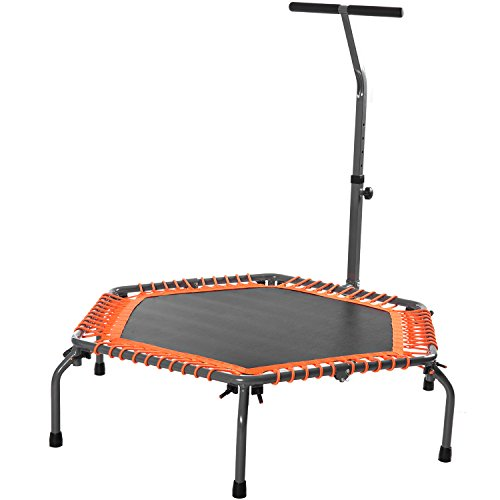 Merax Exercise Fitness Trampoline Home Workout Cardio Training (Orange)