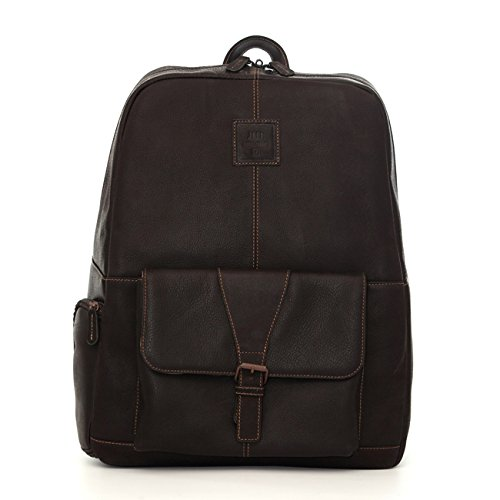 Jack by Jill-e Designs, Hemingway 15'' Leather Laptop Backpack, Brown (464088) by Jill.e Designs