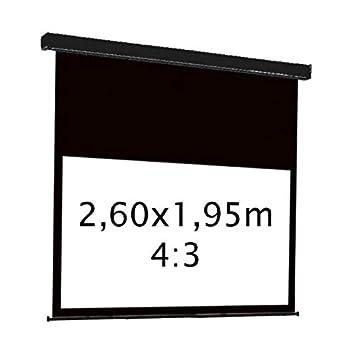 Kimex 3700685405264 - Pantalla electrica de proyeccion 2,60x1,95m ...